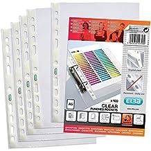 ELBA 400025671 Prospekthüllen Economy 100 Stück für DIN A5 0,06 mm glasklar OHP geeignet