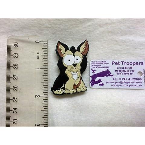 Chiavetta USB antiaderente, a forma di YORKSHIRE TERRIER cane, 4 GB bagagli, Quattro diverse razze tra cui scegliere e può essere su misura per mettere Portachiavi