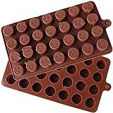 DingSheng 28 QQ Expresión Bacterial DIY Pastel de Chocolate Para Hornear Pastel de Hielo Pudín Formas