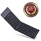 Elevea Portable Mini Bluetooth Wireless Foldable Keyboard Compatible for All Android or Iphone