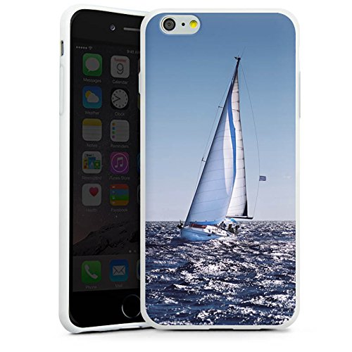 Apple iPhone X Silikon Hülle Case Schutzhülle Segeln Sailing Segelboot Silikon Case weiß