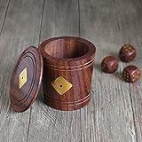 Regali di Natale, Dadi in legno Dadi Tazza per famiglia Include 5 dadi di legno