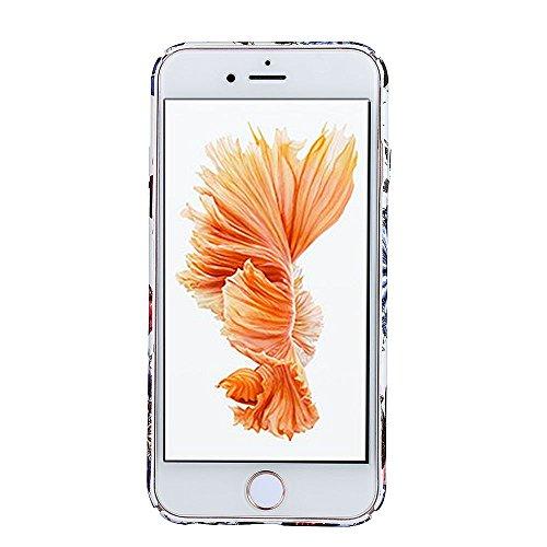 Back Cover per Apple iPhone 7Plus 5.5(NON iPhone 7 4.7), CLTPY Retrò Bellissimo Vento Nazionale Flower Dipinto Serie Case Ultra Fine Copertura di Hard PC Plastic Protezione per iPhone 7Plus + 1x Sti Fiore Colorato 6