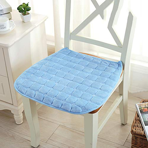 JiaQi 2er-Pack Seat dämpfung,Plüsch Rutschfest Stuhl Kissen sitzkissen,Winter Quadratische Universelle Steißbein Schmerzen Stuhlkissen Gel gefüllt-G 45x45cm(18x18inch)