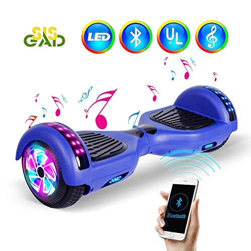 "SISGAD Hoverboard, 6.5\"" Self Balance Elektro Scooter with LED Lights, 2 Wheels Hoverboard Kinder mit 2 * 300W Motor, Kostenlose Tragetasche, UL Zertifikat"