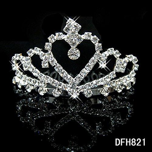 Pretty Noble amor corazón cristal Rhinestone pelo peines al por mayor personalizada