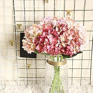 Lomsarsh Flor Artificial Flor de Hortensia Falsa Flor de Seda Falsa Hogar Hotel Oficina Banquete de Boda Jardín Artesanía Arte Decoración