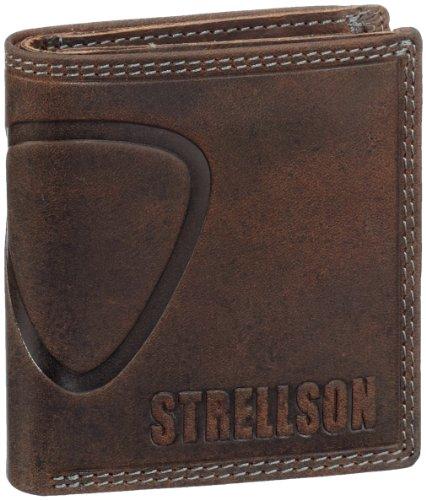 Strellson Baker Street Billfold Q7 4010000047 Herren Geldbörsen 9.5 x 10 x 2.5 cm (B x H x T), Braun (dark brown 702) - - Brown-leder-gepäck