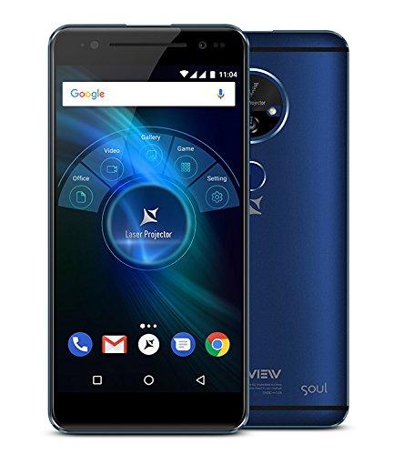 """X4 Soul Vision - 4G Dual SIM smartphone con proiettore laser integrato, 3GB RAM, Octa Core, 5.5"""" IPS, Full HD, 4000 mAH"""