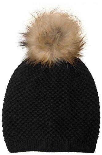 styleBREAKER - Bonnet - Uni - Femme Noir - Noir