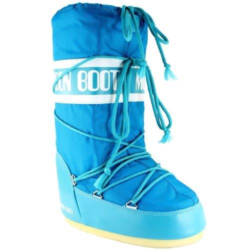 Tecnica Moon Boot Damen Stiefel Nylon Snow Boots Türkis