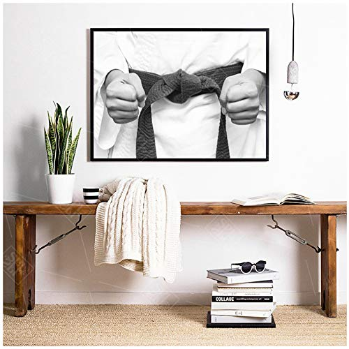 NIEMENGZHEN Print on Canvas Kids Room Decor Painting Karate Kimono Fighter Posters And Prints Canvas Wall Art Picture -50x70cm No Frame