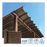 SHIJINHAO-Rete Parasole Serre Antivento Ombra Panno con Metallo Asole Crittografia di Protezione Solare Recinto Privacy Anti-UV Terrazza Polietilene, Taglia 17 (Color : Brown, Size : 5x1.8m)