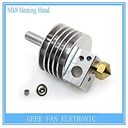 Generic BIQU Mk8 short distance and long distance heating head printhead M6 threaded for 3D printer parts