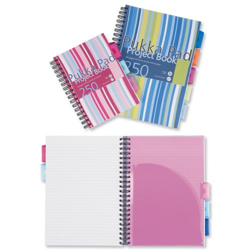3 X Pukka Pad A4 Project Book (Pack of 3)