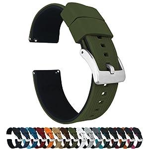 Barton Elite Silikon-Uhrenarmbänder – Schnellverschluss – wählen Sie Farbe – 18 mm, 20 mm und 22 mm Uhrenarmbänder