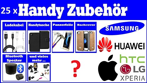 V Produkte Überraschungspaket, Sonderpostenpaket, Restpostenpaket, mit 25 Teilen Handy Smartphone Tablet Zubehör (Regelmäßige Mischung)