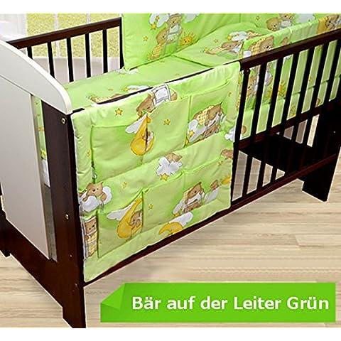 Bebé juego de cama de 120 x 90 hermoso ropa de cama para niño y protector para cuna de sábana cuna,