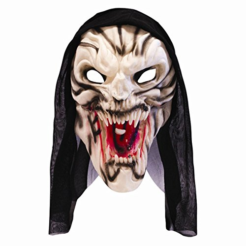 Halloween Demon Hooded Fright Mask Horror Monster Fancy Dress Costume