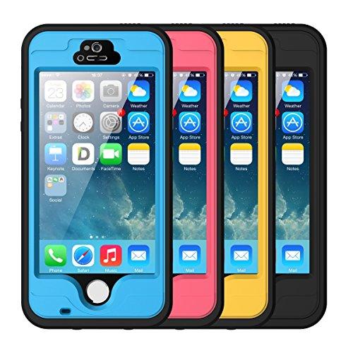 iPhone 5S Wasserdichtes Gehäuse, iThrough™ iPhone 5 Wasserdichtes Hülle, Staubdicht, Schnee Verteidigung, stoßfest Hülle, Hochleistung Schützende tragende Abdeckung Hülle für iPhone 5S, iPhone 5 Gelb
