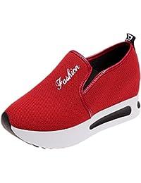 Zapatos de senderismo,Sonnena Aumento de los zapatos de net Zapatos casuales de mujer Zapatillas de plataforma gruesa y transpirable con plataforma de malla