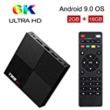 TV Box, TUREWELL Android 9.0 TV Box 2GB RAM 16GB ROM H6 Quadcore ortex-A53 Smart TV Box 2.4GHz WiFi 3D 4K Android Box Home Media Player