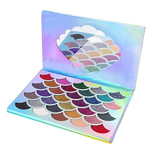 Sbarden Lidschatten Palette,32 Schalenform Lidschatten Eyeshadows verschiedene Nuancen Matt und...