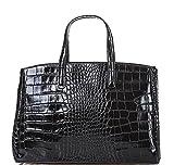 Bottega Carele ,  Damen Tasche aus Leder mit Krokodillederprägung