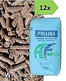 WUEFFE Pollina Pellet - 12 Sacchi da kg 25 - Stallatico pellettato concime concime Organico NP Biologico