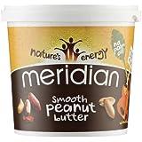 Meridian Mantequilla De Maní Suave Natural, Sin Azúcar Añadido Y Sin Sal Añadida (1Kg)