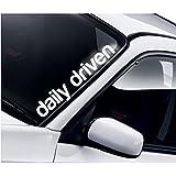 Daily Driven Frontscheibe Windschutzscheibe Heckscheibe Aufkleber Lustig Drift JDM Fun Tuning Auto Frontscheibenaufkleber