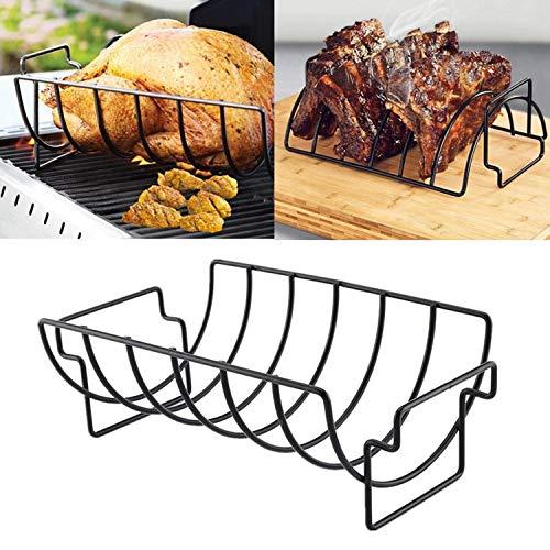 Startseite Restaurant Rib Rack Ständer Antihaft Grillen BBQ Huhn Rindfleisch Lammkoteletts Rippen Stand Rösten Ständer Steak Halter