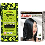 RADICO - SOFT BLACK- 100% ORGANIC HAIR COLOR WITH HERBAL NATURAL BLACK HAIR COLOR