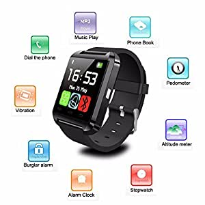 Link Plus U8 Smartwatch with Digital Touch Screen, Outdoor, Sports, Fitness F...