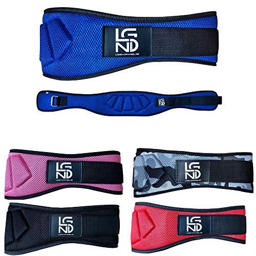 Legend Gewichthebergürtel Fitness-Gürtel für Bodybuilding, Krafttraining, Gewichtheben und Crossfit Training - Trainingsgürtel für Damen und Herren (Blau, XXL)