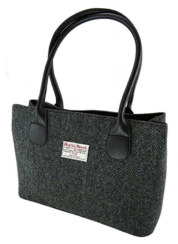 Harris Tweed Damen Holzkohle Uni Tasche 100% Wolle lb1003col1 Gr. One Size, multi -