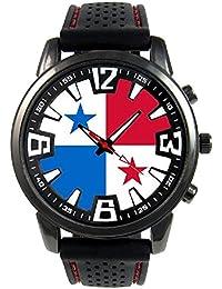 Panamá Reloj para hombre con correa de silicona