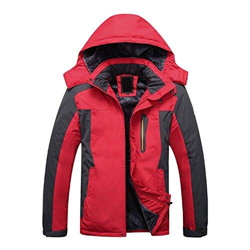 Deylaying Männer Dick Mäntel Draussen Winddicht Ski Jagd Klettern Schneeanzug Jacke Oberbekleidung Plus Größe