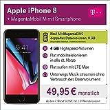 Apple iPhone 8 mit 64 GB internem Speicher mit Telekom Magenta M inkl. Telefon-und SMS Flat in Alle dt. Netze, 4GB Datenvolumen mit bis zu 300 Mbit/s, 24 Monate Laufzeit mtl.
