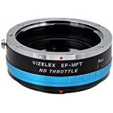 Vizelex ND Throttle Lens Mount Adapter from Fotodiox Pro - Canon EOS (EF, EF-s) Lens to Micro-4/3 Mount Cameras (such as OM-D E-M10, Lumix GH4, and Black Magic Pocket) - with Built-In Variable ND Filter (ND2-ND1000)