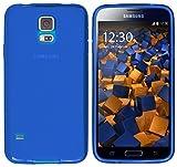 mumbi Schutzhülle für Samsung Galaxy S5/S5 Neo Hülle transparent blau