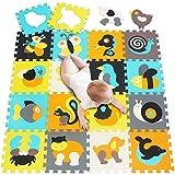 meiqicool Enfant Puzzle Tapis de Jeu coloré Doux Non Toxique en Mousse de scie sauteuse Dalles de Sol et Jouets 010014