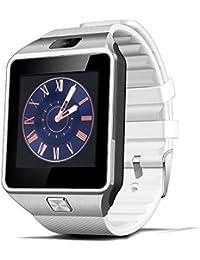 DioKlen - Nuevo Smartwatch Inteligente Digital Sport Oro Smart Watch DZ09 Podómetro para Teléfono Android Reloj