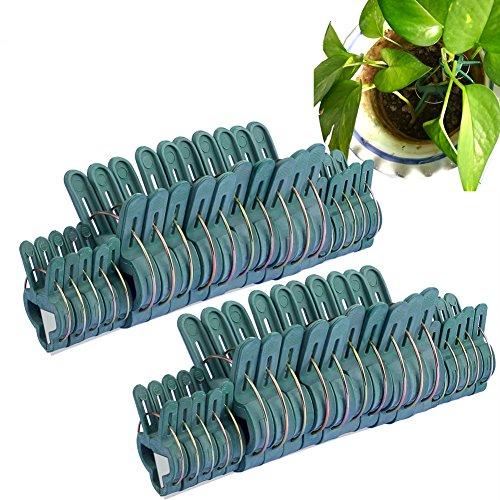 SIENOC Pince à ressort en plastique pour plantes Protection des plantes (40 pack)