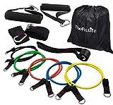 TheFitLife Ensemble de bandes de résistance - Empilables jusqu'à 49,9 kg Tubes pour exercices en intérieur et extérieur, fitness, suspension, vitesse, résistance, entrainement de baseball, yoga