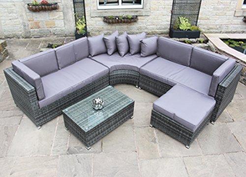 Rattan Outdoor Curved Corner Sofa ...