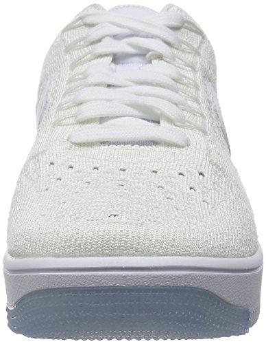 Nike Af1 Ultra Flyknit Low, Scarpe da Basket Uomo Bianco