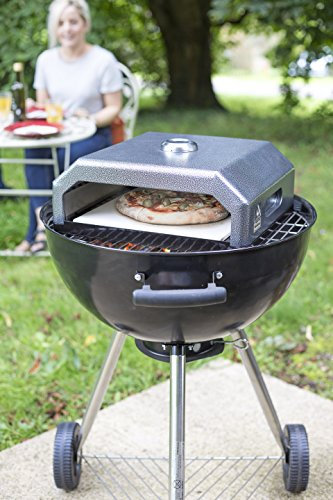 Oxford Barbecues 56225OL Gourmet Pizza Oven, Grey, 35x40x15 cm