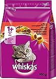 Whiskas 1+ Katzenfutter Rind, 5er Pack (5 x 950 g)