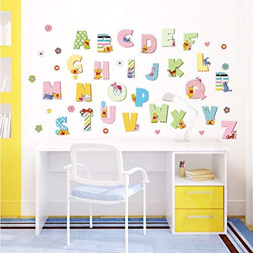 Etiqueta Puerta 3D,Winnie The Pooh Letras Decoración